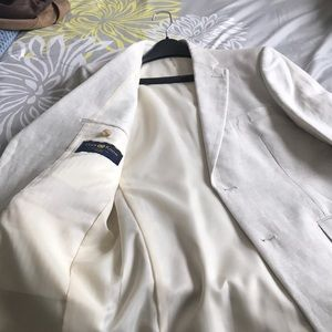 Men off white jacket